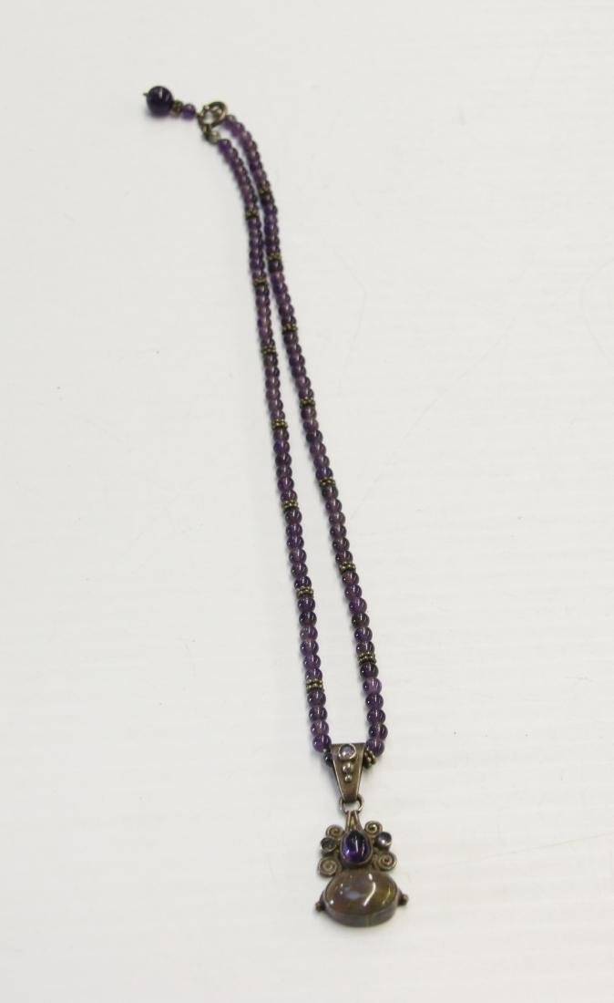 AMETHYST BEADS AND PENDANTS - 3
