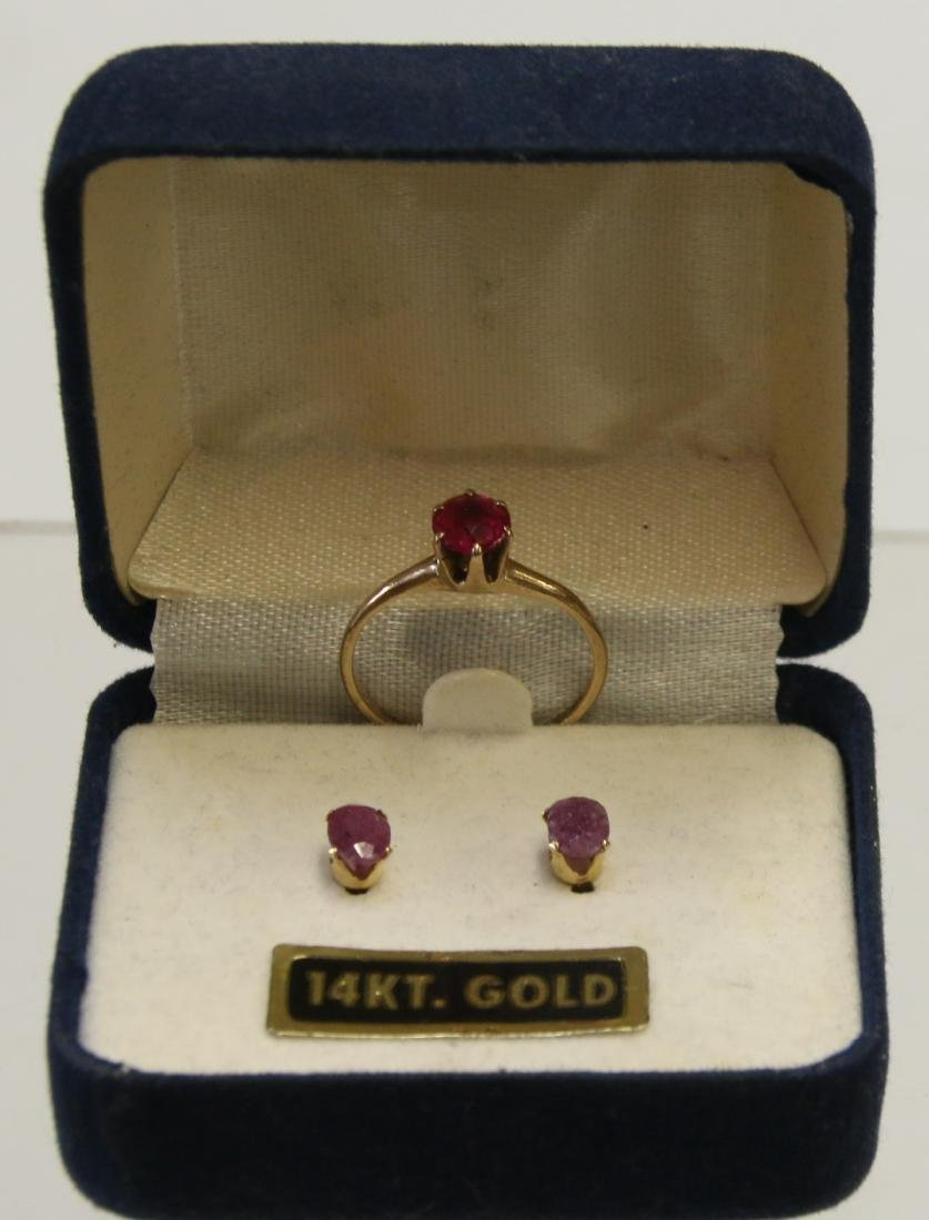 14K AND 10K GOLD RING AND EARRINGS