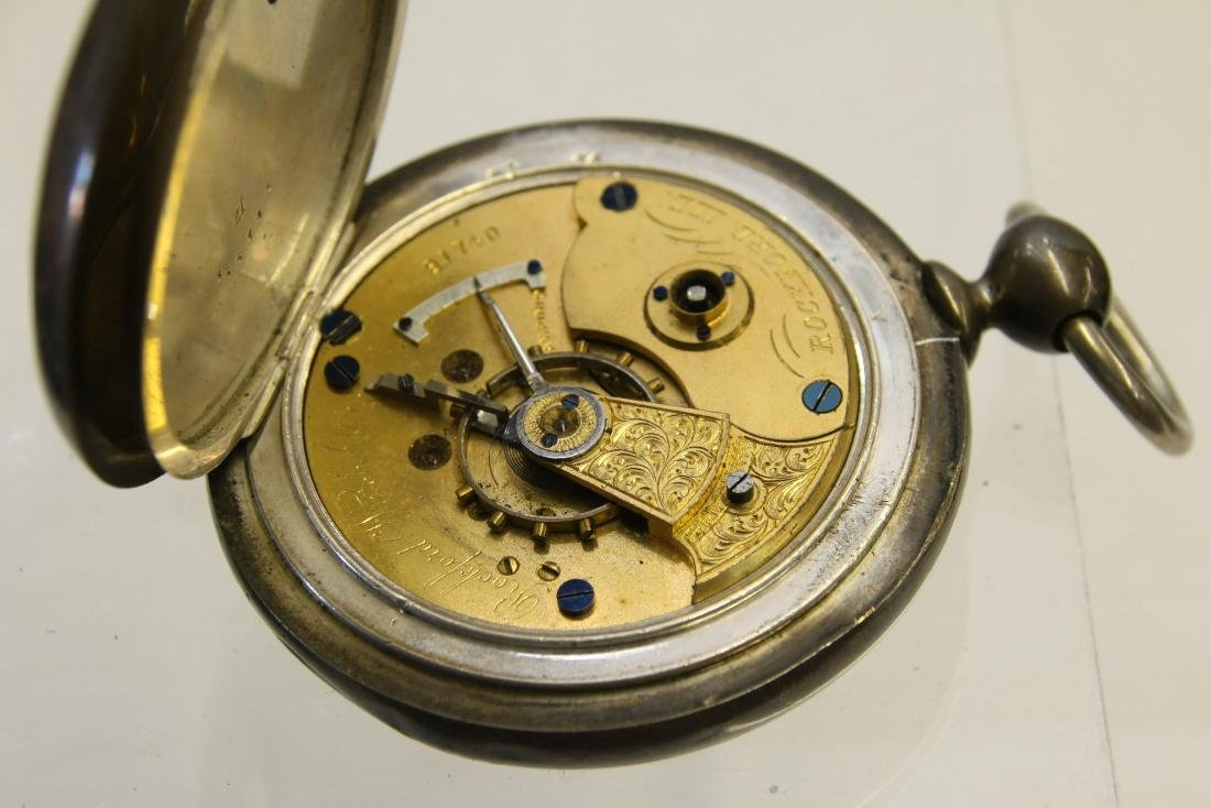 COIN SILVER POCKET WATCH - 2