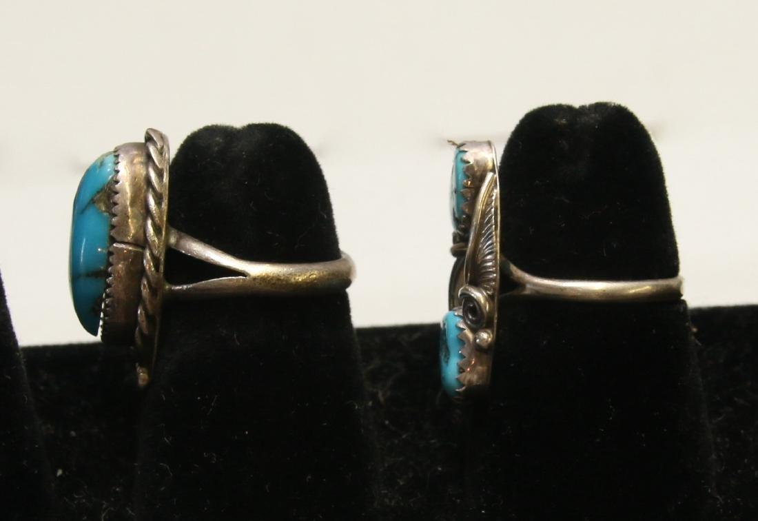 (2) NATIVE AMERICAN STERLING RINGS - 2