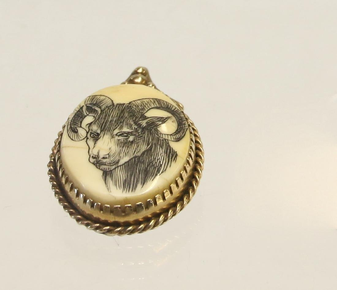 14K GOLD AND STERLING PENDANT