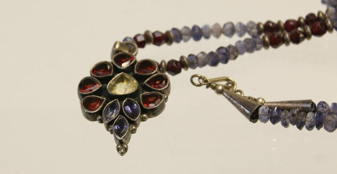 STERLING AND STONE NECKLACE - 2