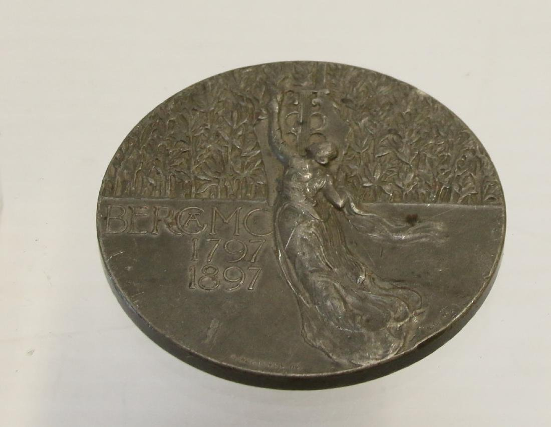 PEWTER FRENCH MEDAL