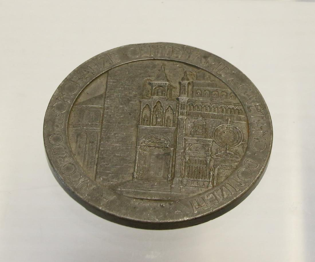 PEWTER FRENCH MEDAL - 2
