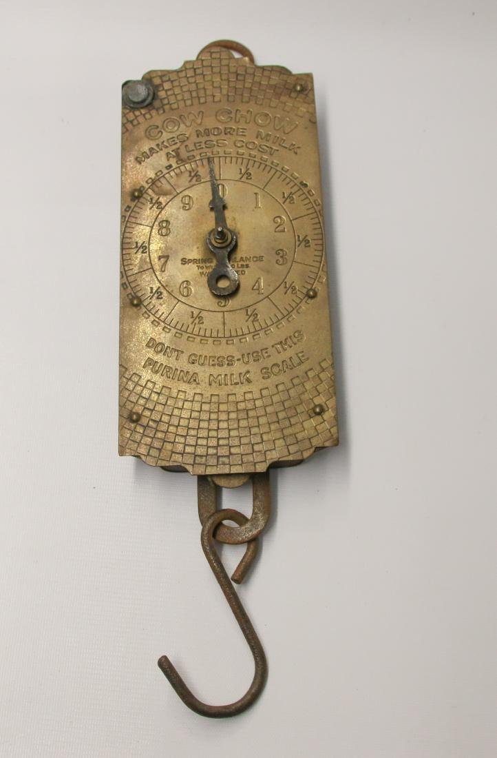 VINTAGE BRASS ADVERTISING SCALES