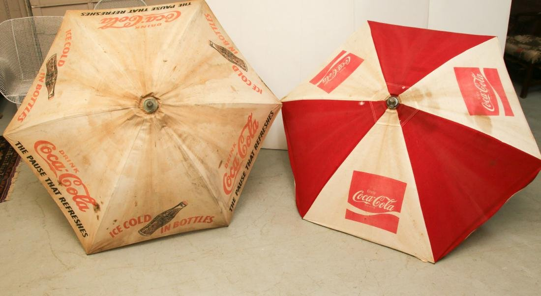 PR. OF VINTAGE COCA COLA UMBRELLA'S