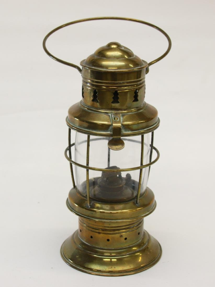 EARLY BRASS DIETZ LANTERN