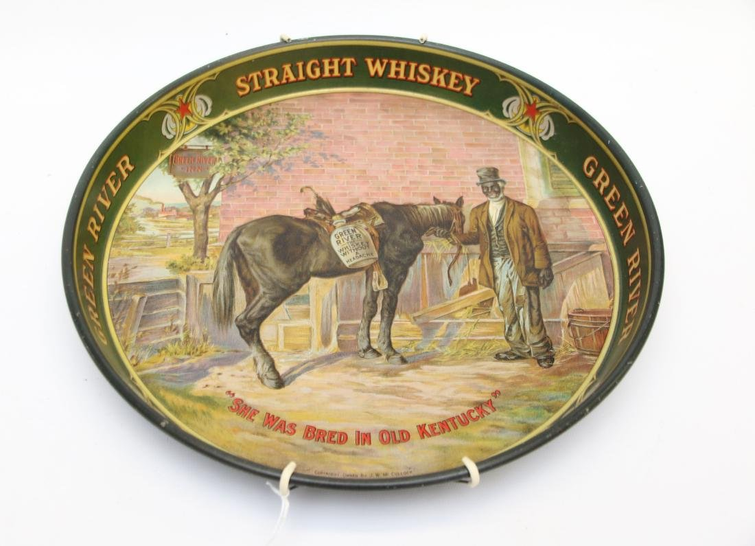 VINTAGE GREEN RIVER WHISKEY ADV. TRAY
