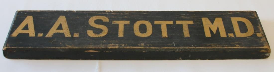 PRIMITIVE WOODEN DOCTOR SIGN - 2