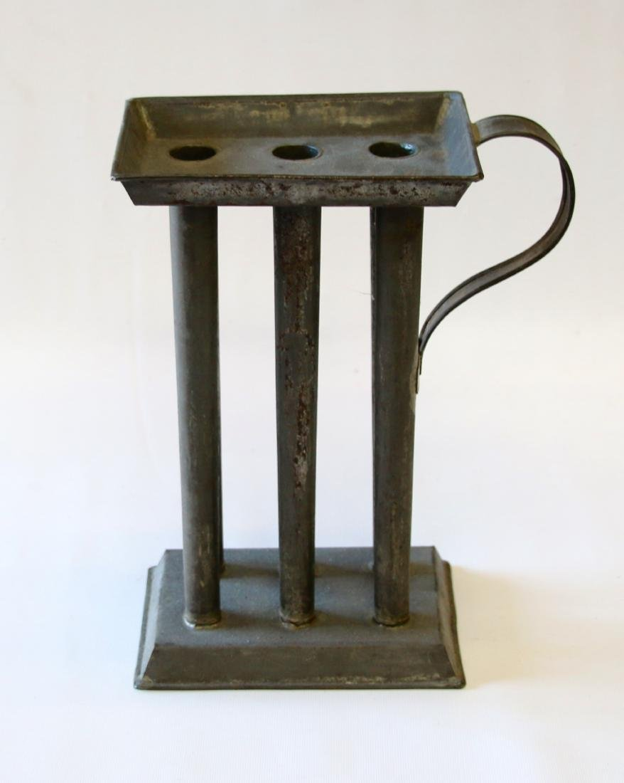 19TH CENTURY TIN CANDLE MOLD - 2