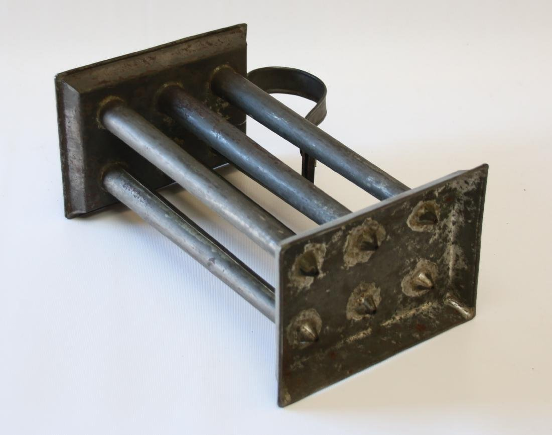 19TH CENTURY TIN CANDLE MOLD - 3