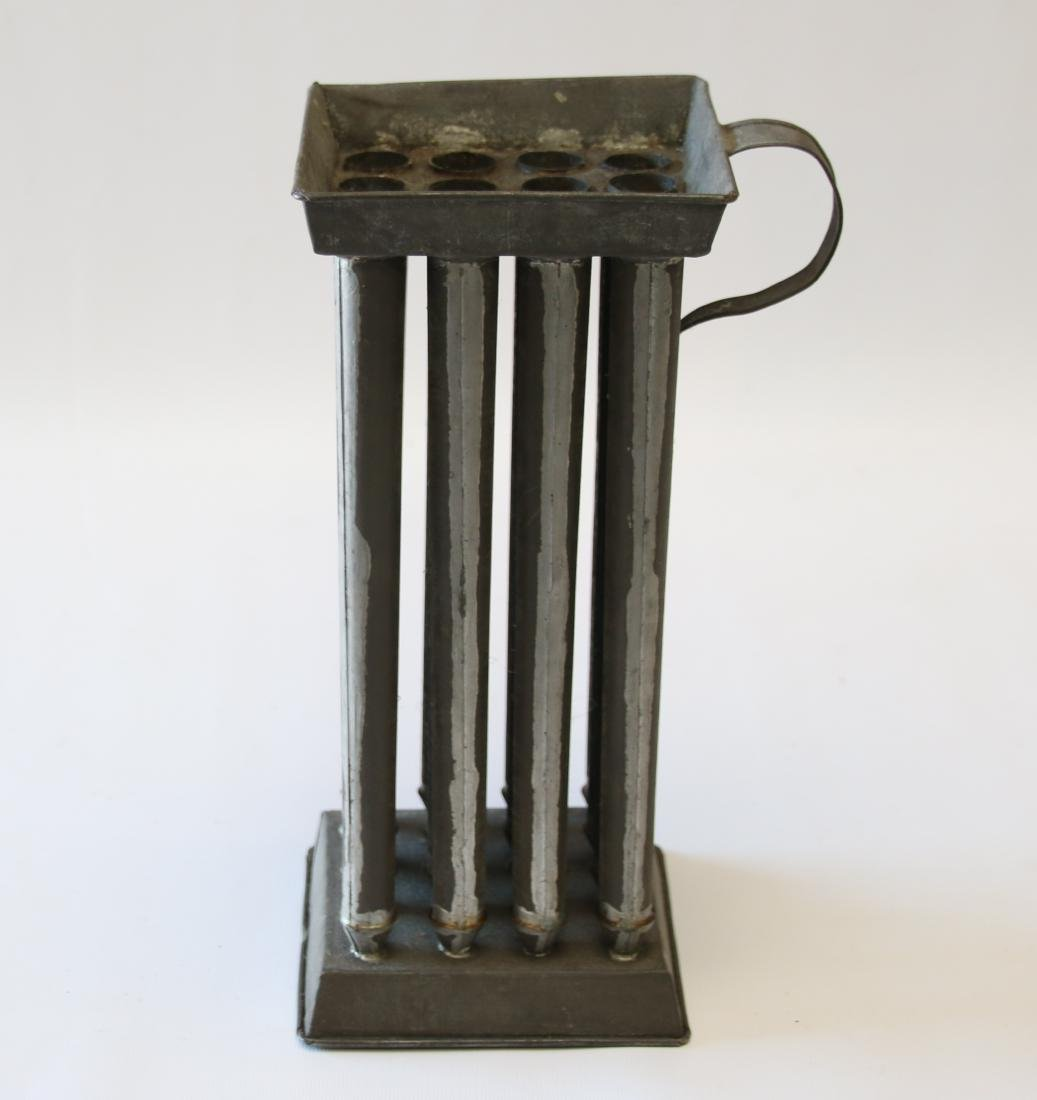 19TH CENTURY TIN CANDLE MOLD