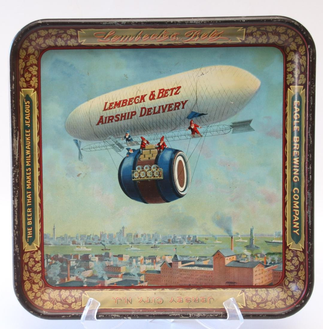 VINTAGE LITHOGRAPH ADV. BEER TRAY
