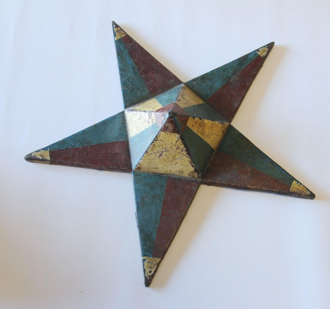 CAST IRON FOLK ART STAR