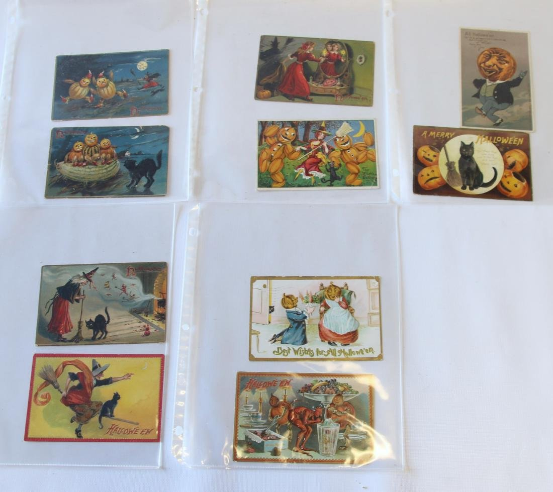 GROUP LOT OF HALLOWEEN POSTCARDS