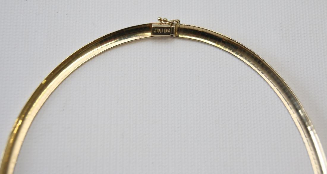 14K GOLD SERPENTINE NECKLACE - 3