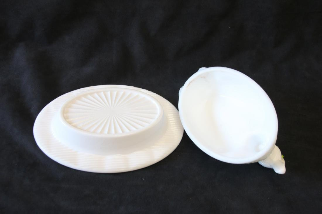 GROUP LOT OF EARLY MILK GLASS - 6