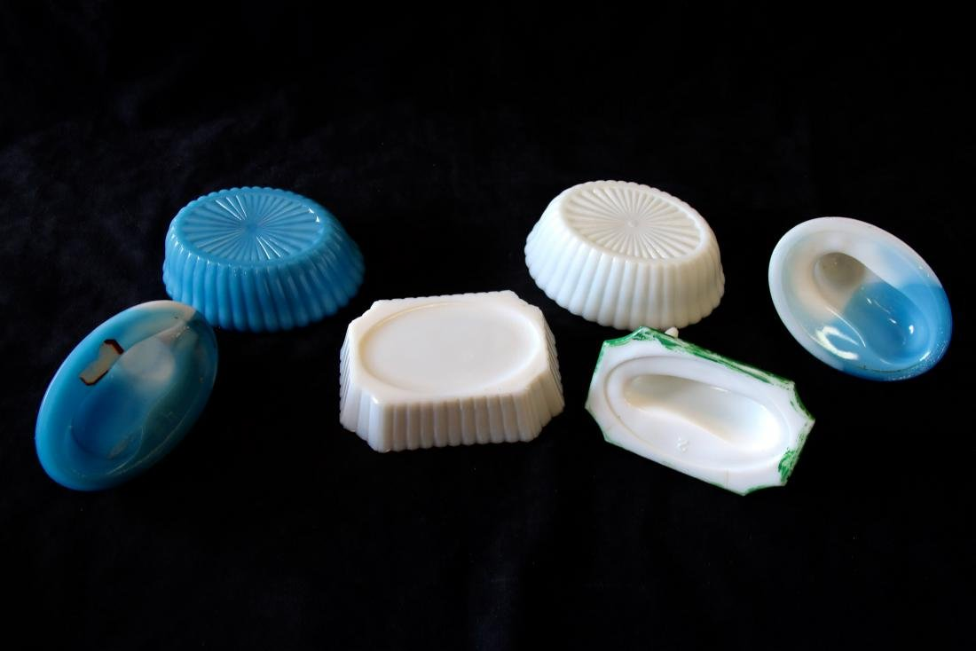 GROUP LOT OF EARLY MILK GLASS - 4