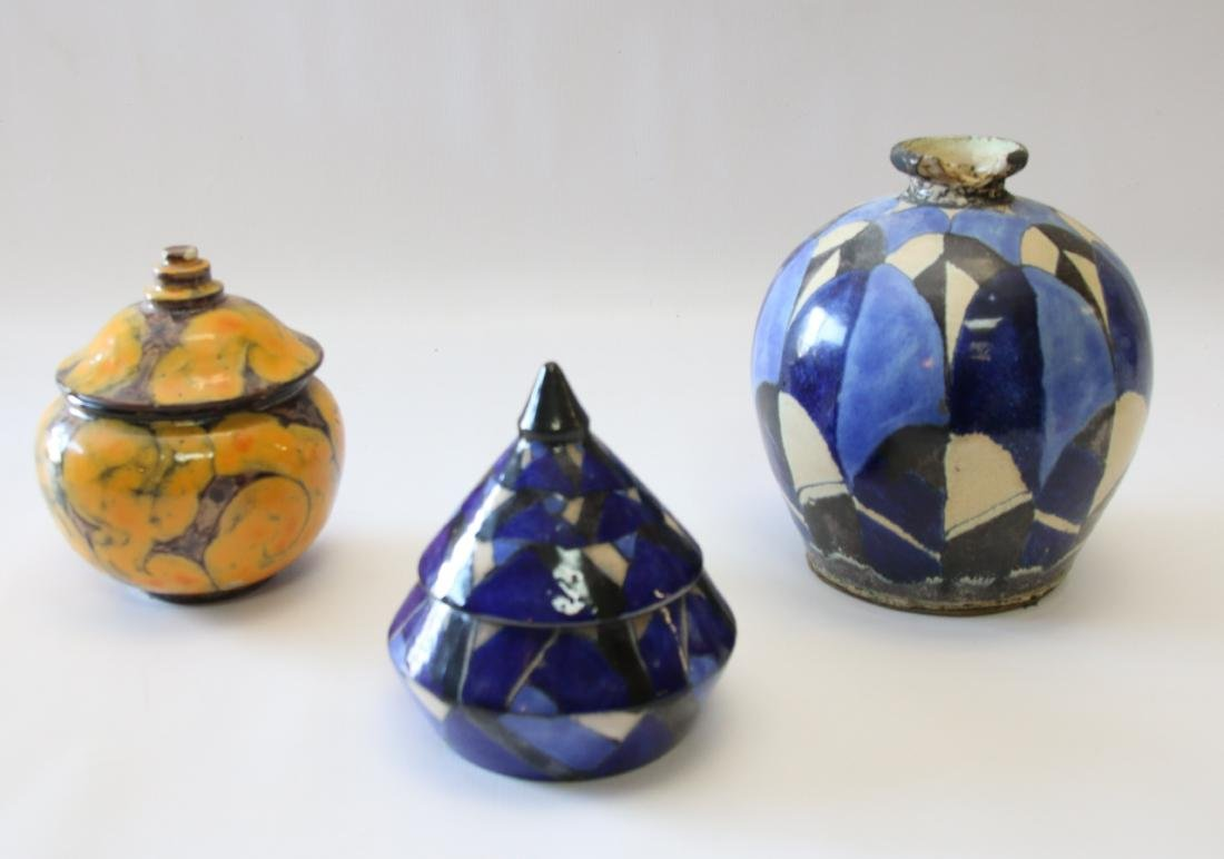 FRENCH ART DECO POTTERY LOT