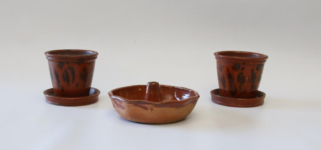 GROUP LOT OF REDWARE