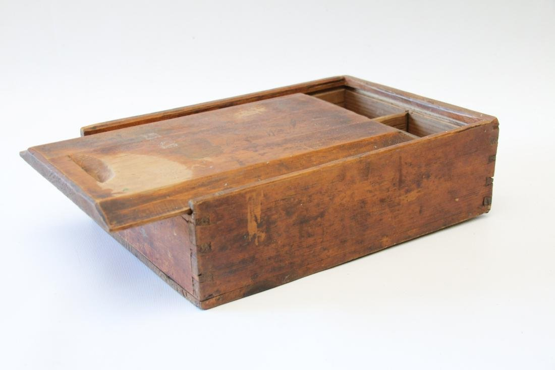 ANTIQUE SLIDE LID BOX - 2