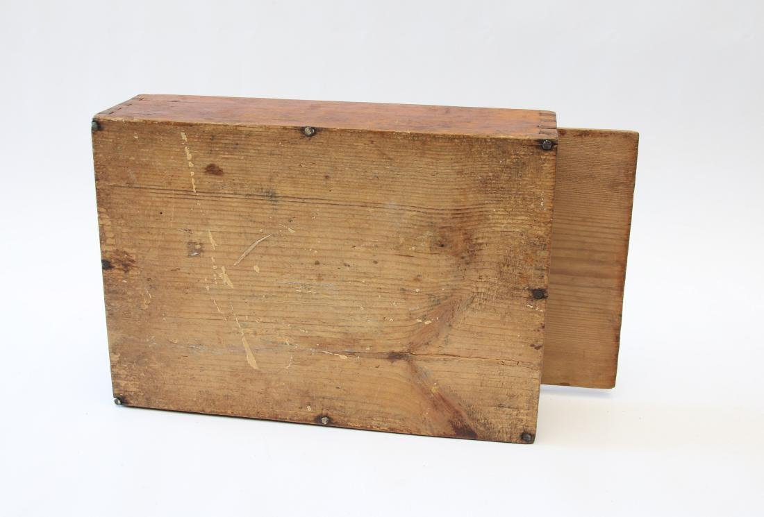 ANTIQUE SLIDE LID BOX - 4