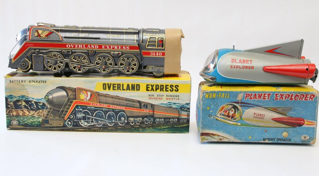 PR. OF BATTERY OPERATED TIN TOYS