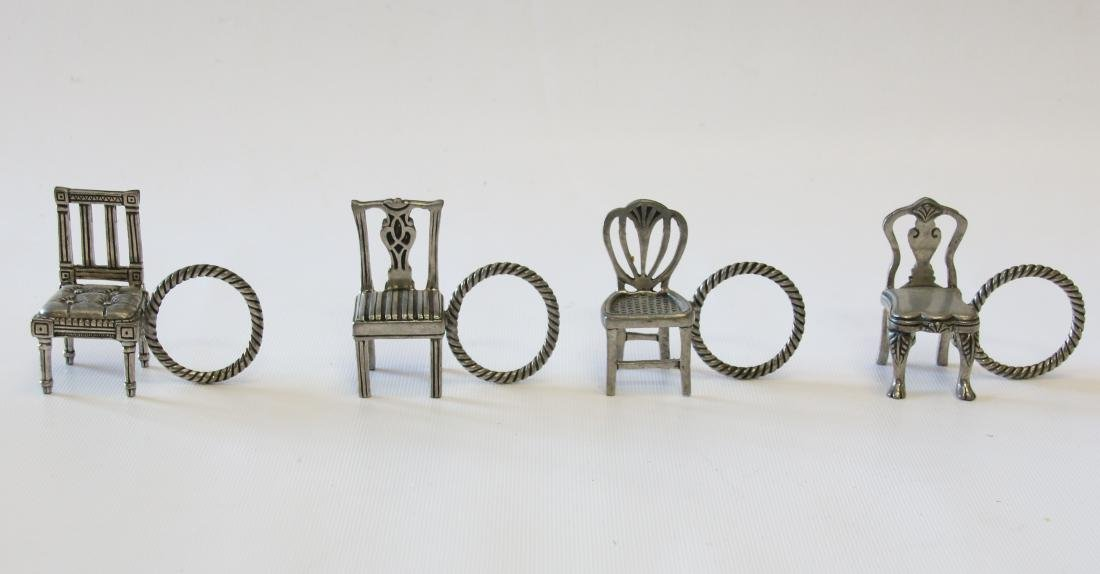 GROUP OF EARLY NAPKIN RINGS