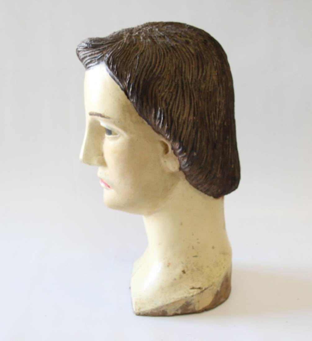 EARLY CARVED WOODEN HEAD - 2