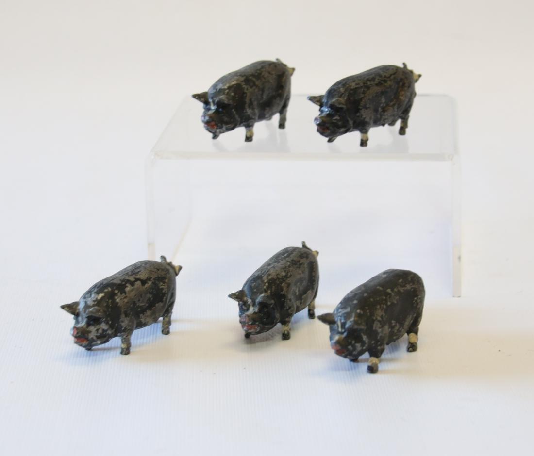 GROUP OF POT METAL PIGS