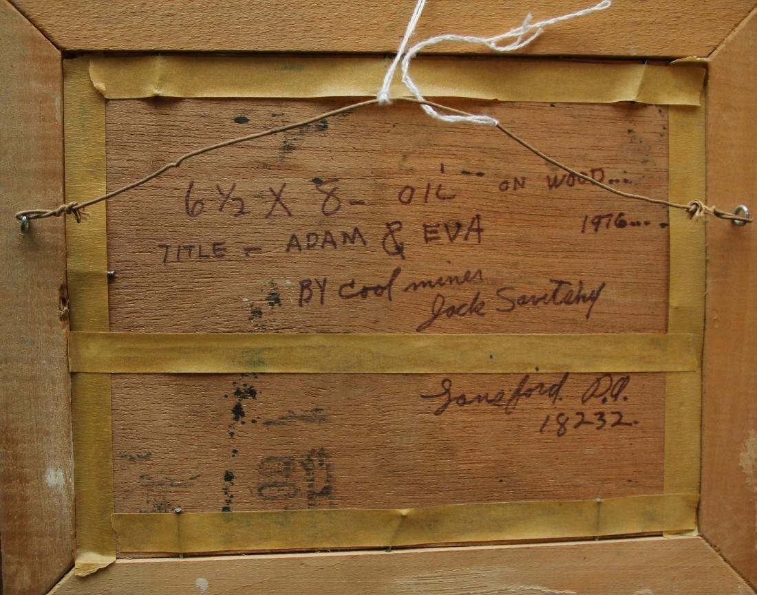 JACK SAVITSKY OIL ON BOARD - 3