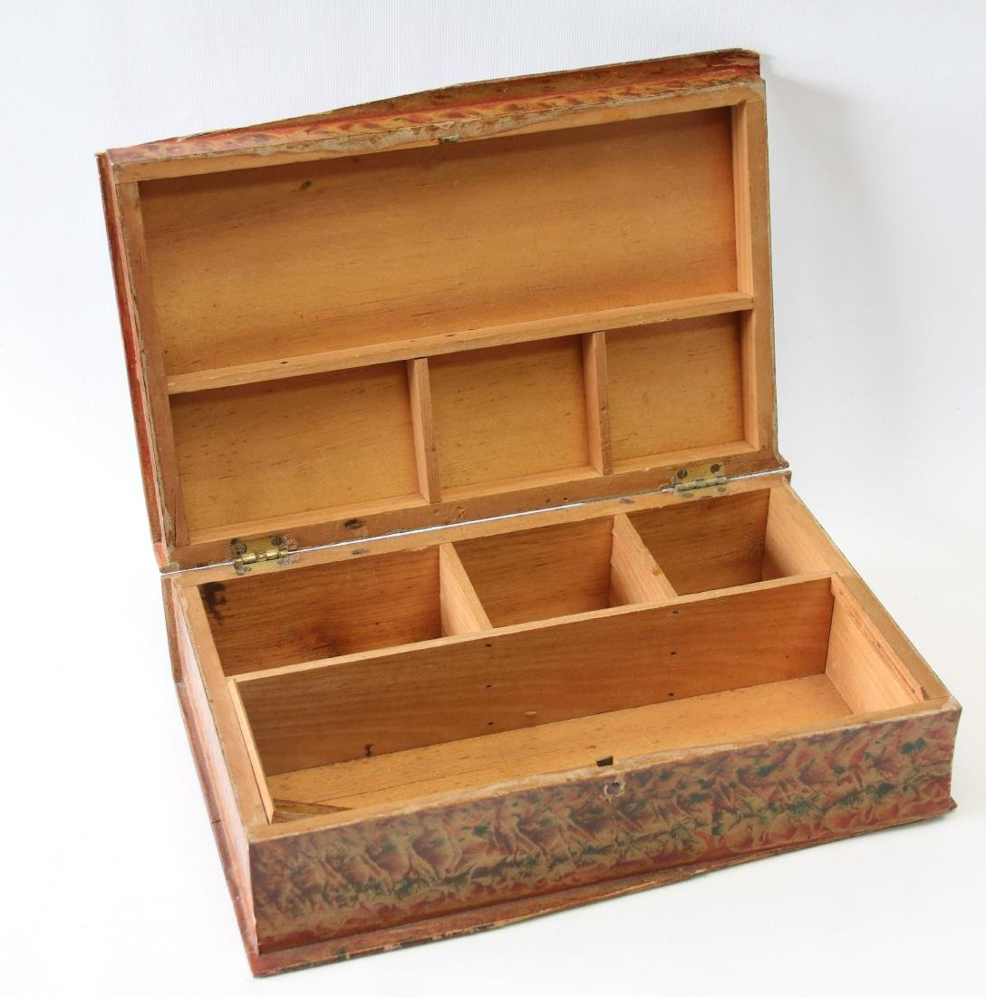 PAINT DECORATED STORAGE BOX - 2