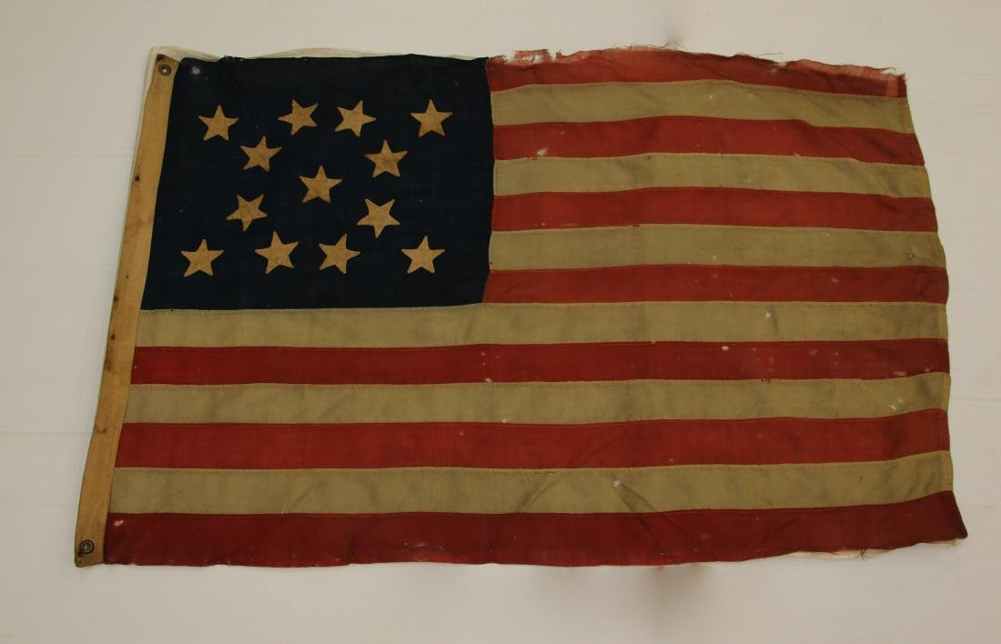 19TH CENTURY AMERICAN FLAG