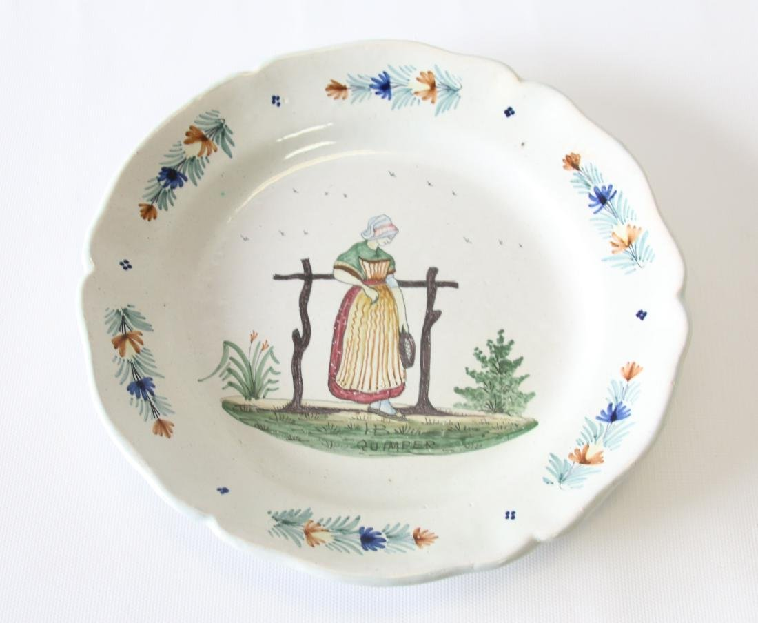 EARLY QUIMPER PLATE