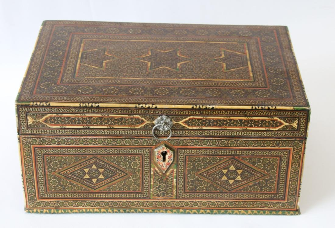 INLAID MARQUETRY TYPE BOX