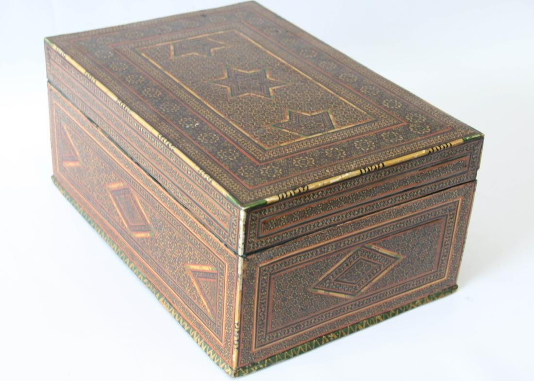 INLAID MARQUETRY TYPE BOX - 2