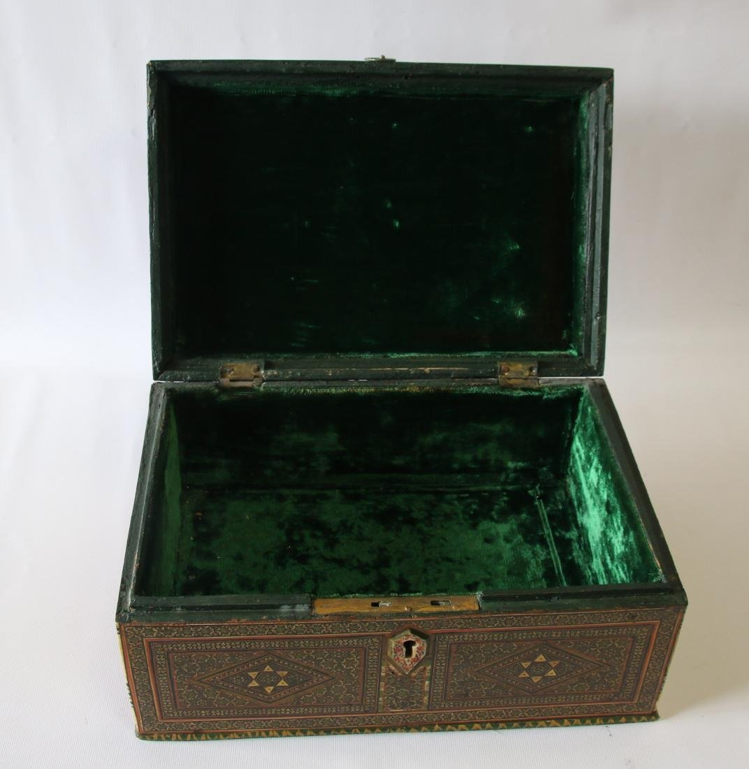 INLAID MARQUETRY TYPE BOX - 5