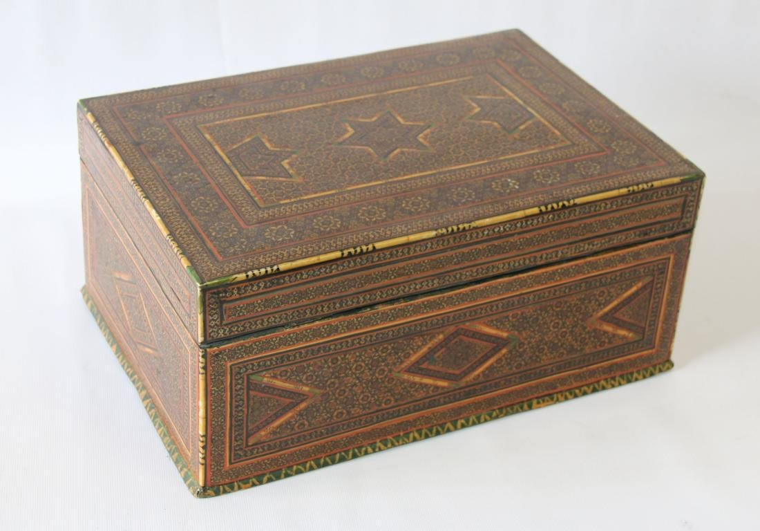 INLAID MARQUETRY TYPE BOX - 6