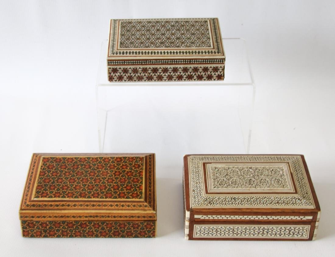(3) INLAID BOXES