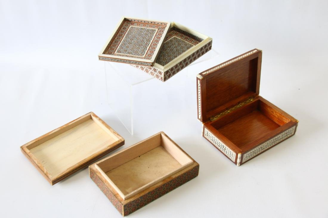 (3) INLAID BOXES - 3