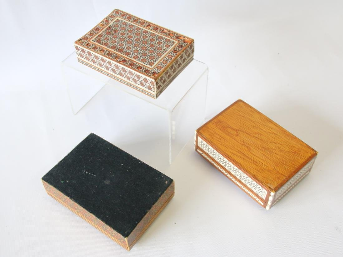 (3) INLAID BOXES - 4