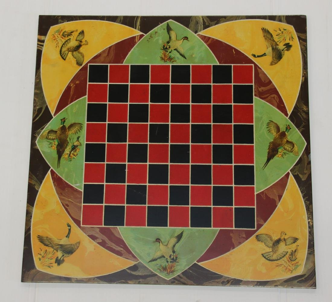 PAINT DECORATED SLATE CHECKERBOARD