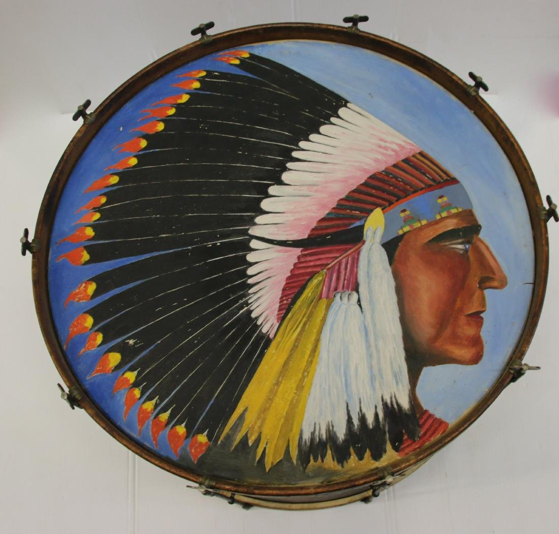 PAINT DECORATED BASS DRUM