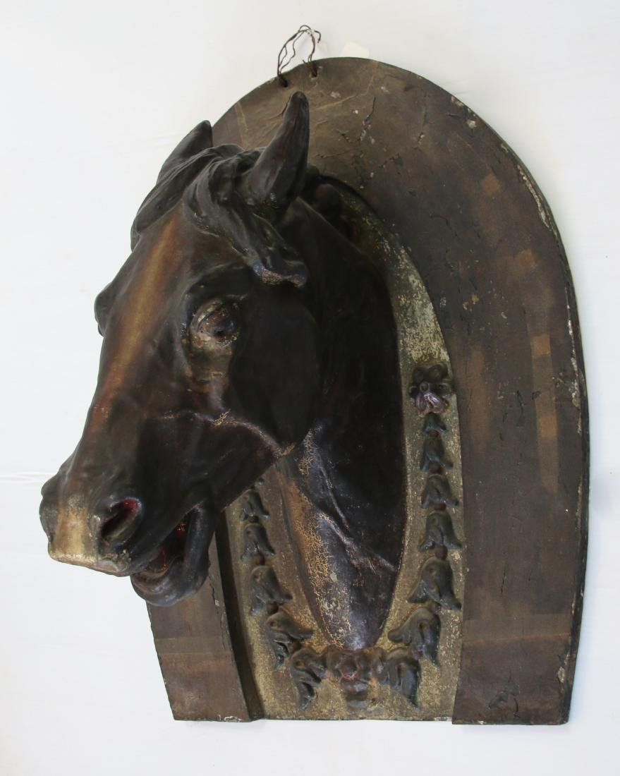 PAINTED METAL HORSE TRADE SIGN