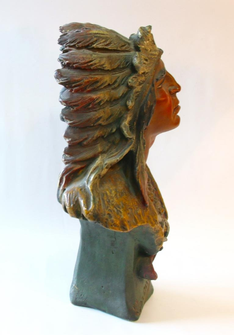 CHALKWARE BUST INDIAN - 3