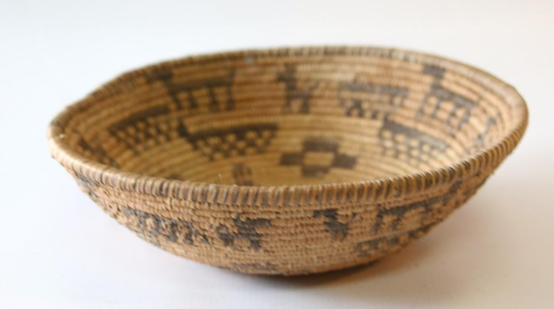 NATIVE AMERICAN SHALLOW BASKET - 3