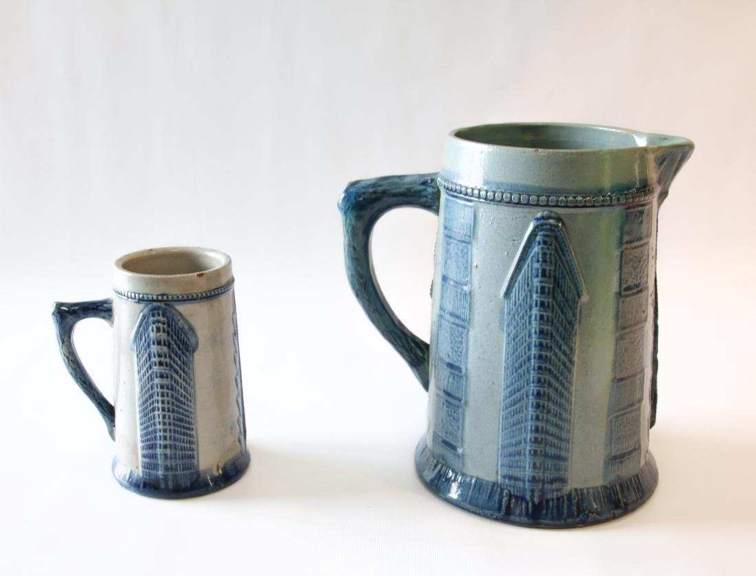 POTTERY PITCHER AND MUG
