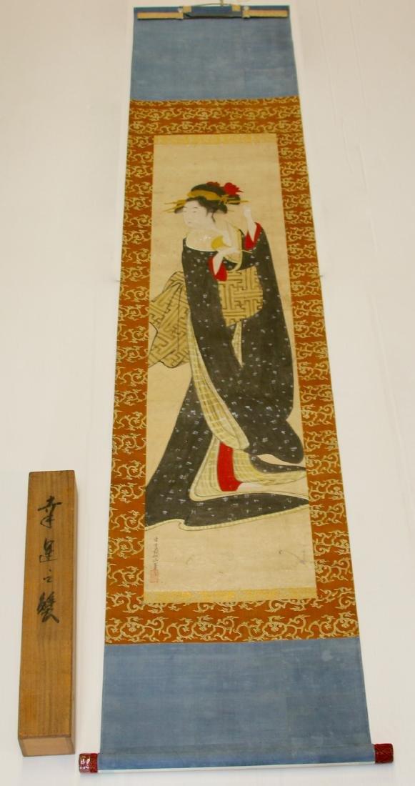 JAPANESE GEISHA GIRL SCROLL