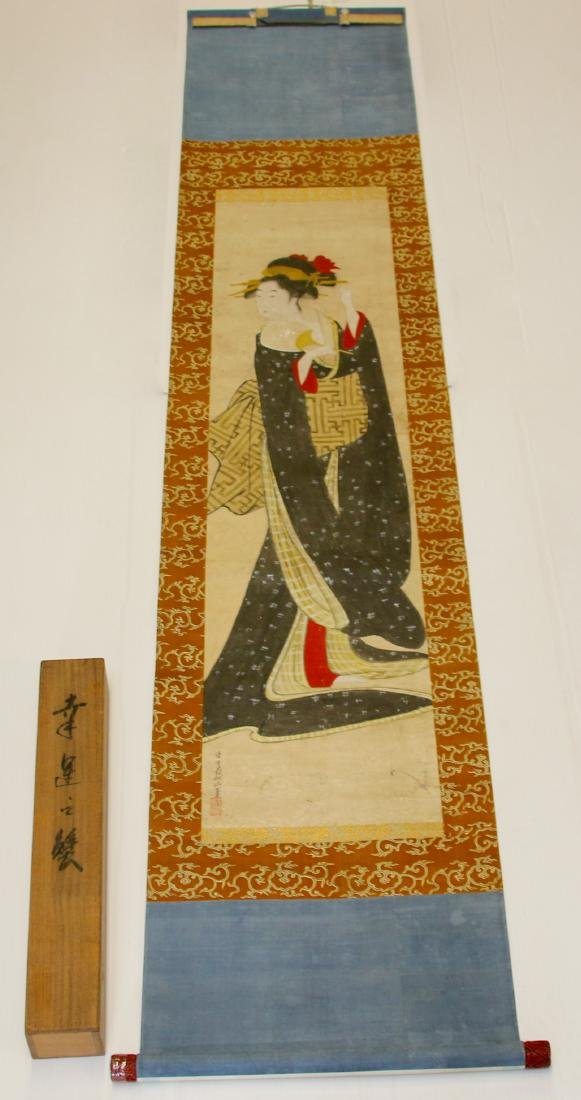 JAPANESE GEISHA GIRL SCROLL