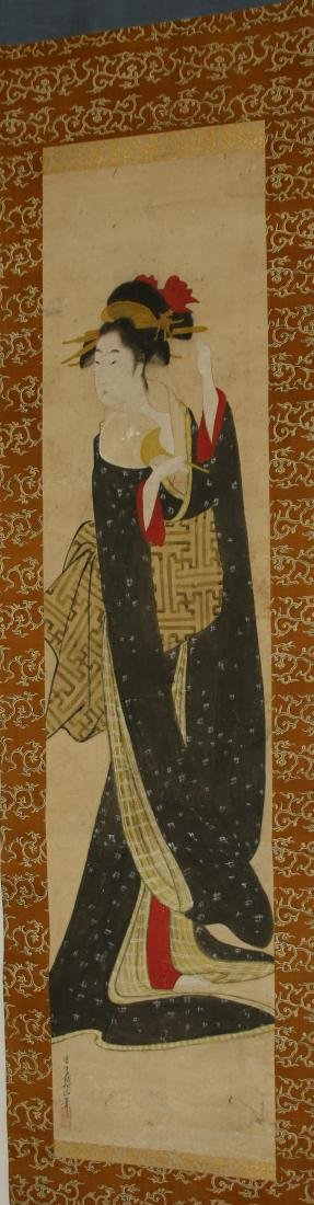 JAPANESE GEISHA GIRL SCROLL - 2